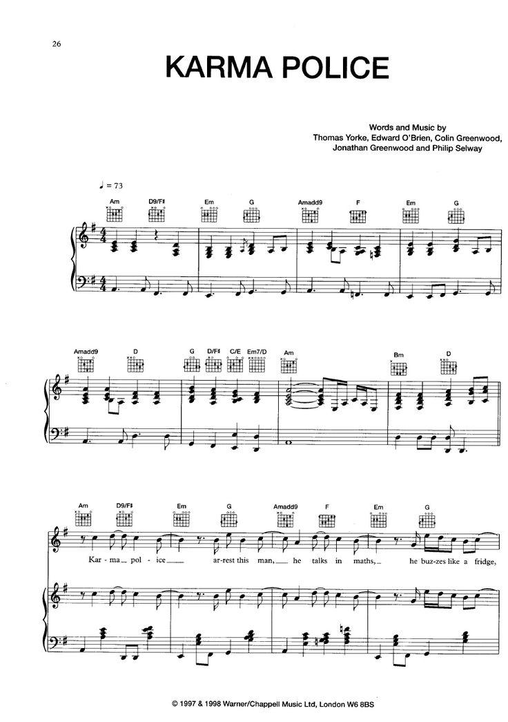[Piano Sheet] Radiohead - Karma Police | Scribd