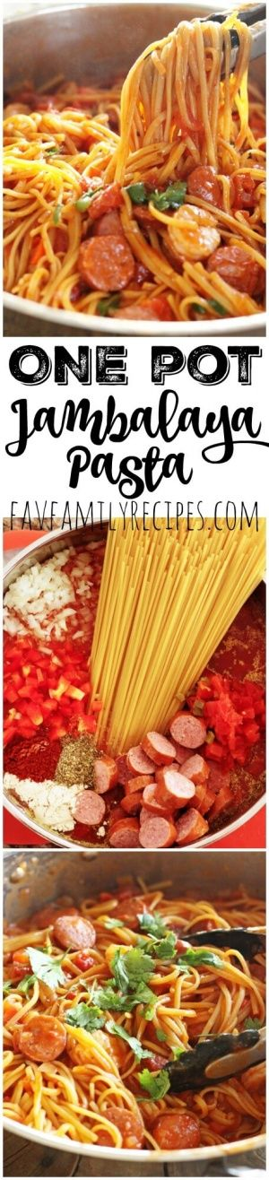 This one pot Jambalaya pasta is the perfect meal. Throw everything in a pot & dinner is done in 20 minutes. Better than Cheesecake Factory's Jambalaya pasta! via @favfamilyrecipz