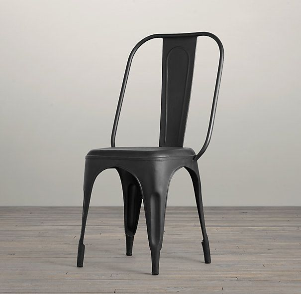 Remy side chair for dining room comes in white black for Restoration hardware metal chair