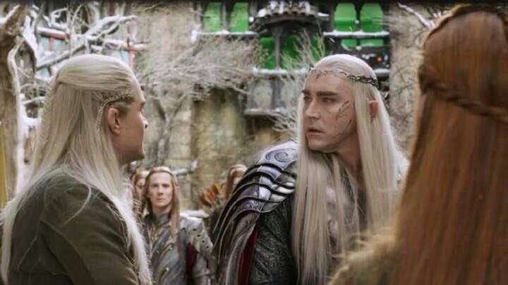 """If you harm her, you will have to kill me."" Legolas' first open defiance of his Father shocks Thranduil. who is already dismayed by his own treatment of Tauriel when she accused him of ""lacking in Love""...Ironically it is Thranduil, not Legolas, who comforts Tauriel after the death of Kili."