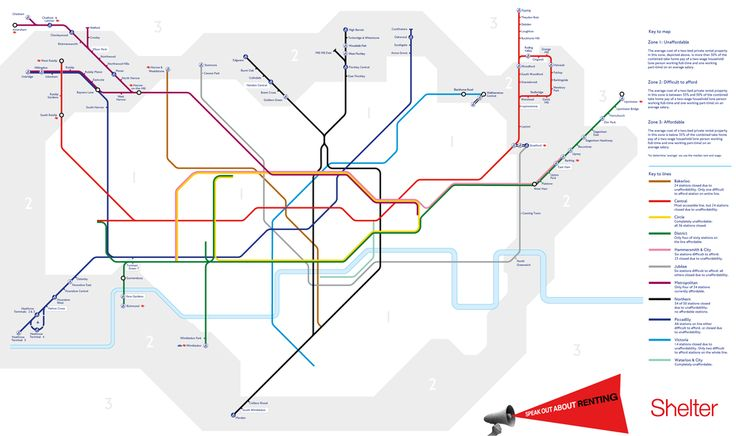 This Tube map shows why renting in London has become unaffordable