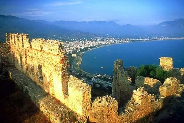 Alanya. Turkey. A view of the harbour from the top of the castle. I have spent many an evening up here sipping coffee and admiring the scene