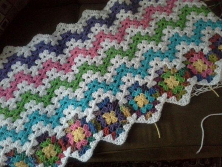 Les 119 meilleures images du tableau Crochet Granny Ripple Afghans ...