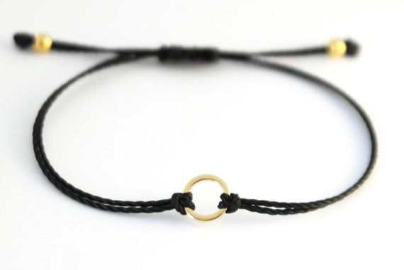 Karma Bracelet Gold Circle Bracelet by lizaslittlethings on Etsy, $10.00
