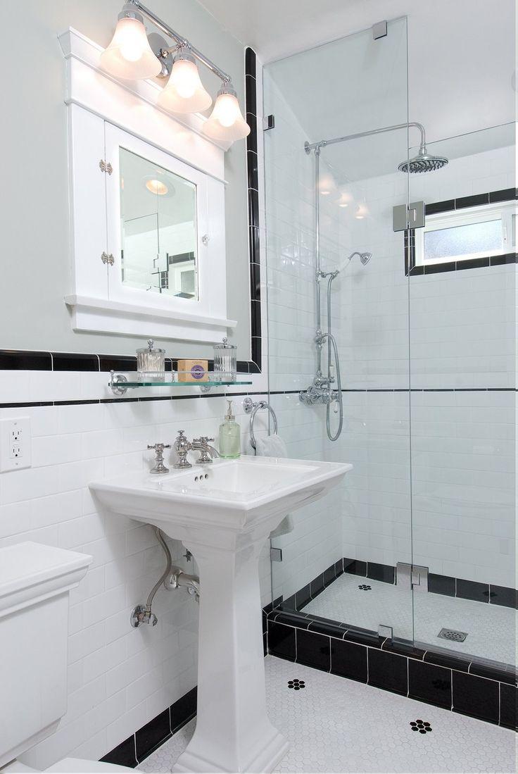 Vintage black and white bathroom ideas - Vintage Black And White Ny Bathroom