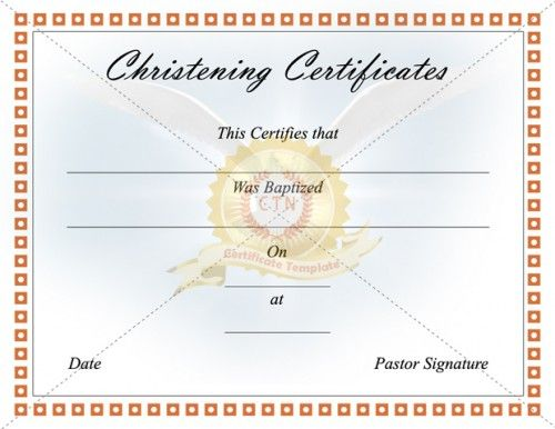 8 best Baptism Certificate Template images on Pinterest - life membership certificate template
