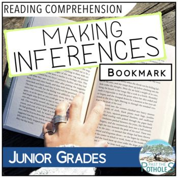 Making Inferences Bookmark - reading comprehension support #reading #inferring #inferences #comprehension #teach #school #junior #grades #printable #guide