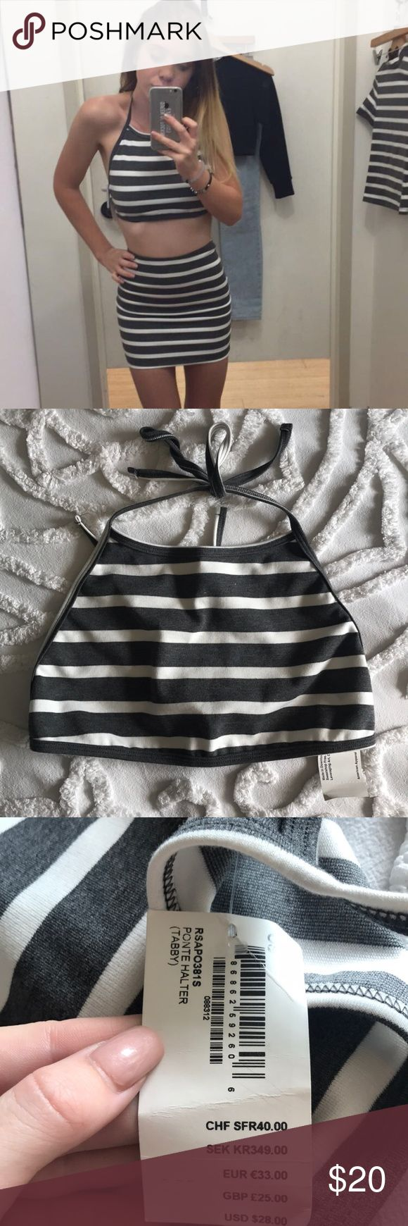 American Apparel crop top Brand new with tags! Also have matching skirt for sale on my page! American Apparel Tops Crop Tops