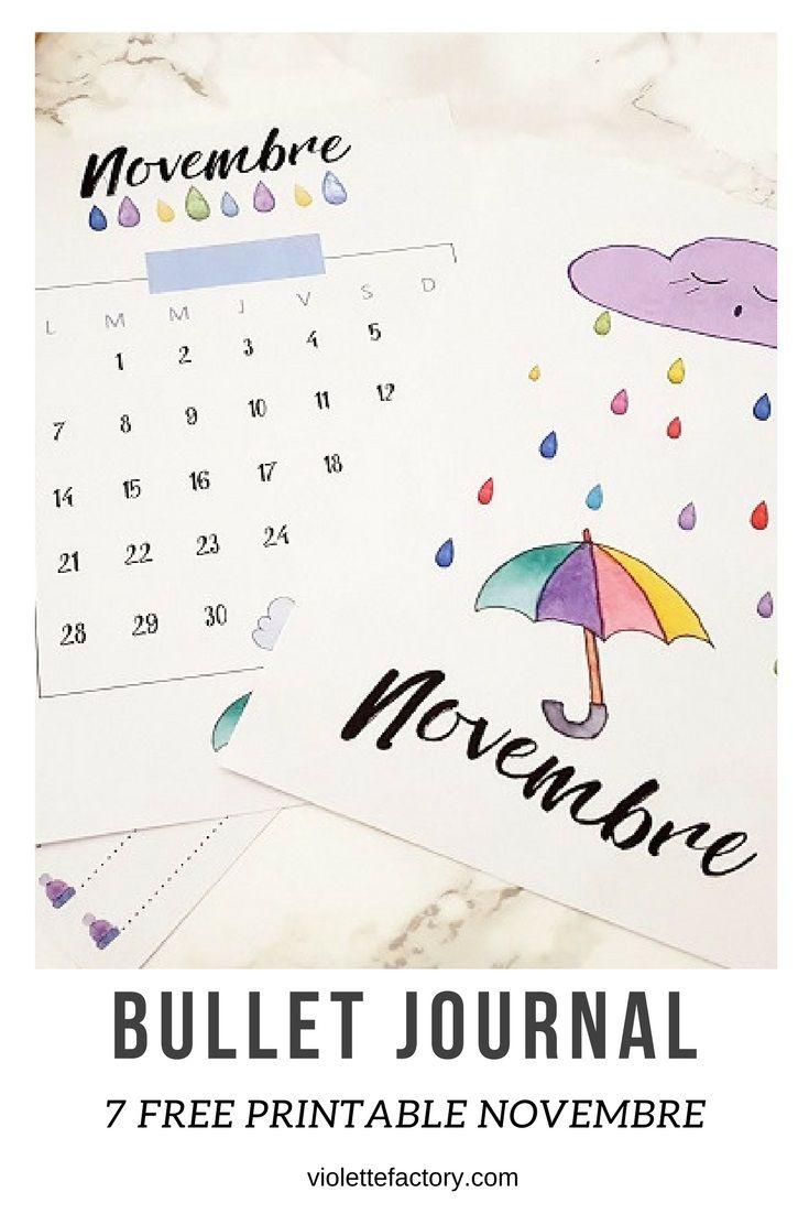 #free #printable #bulletjournal 7 fiches à imprimer pour votre bullet journal en novembre