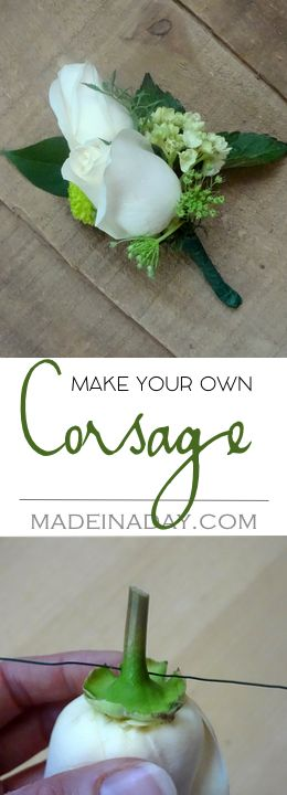 How to make a Corsage, Simple tutorial on how to layer flowers to make a corsage for a special occasion. Mother's Day, Prom, Weddings, etc.