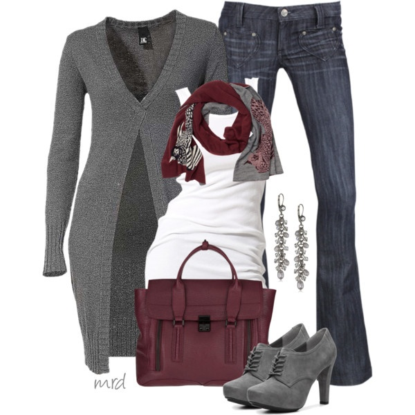 Fall Styles...i love the burgundy and grey