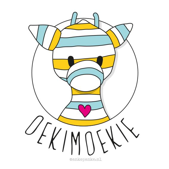 Logo design for Oekimoekie (crocheted products & patterns webshop) by http://ankepanke.nl