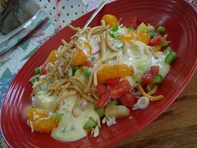 hawaiian haystacks - chive/onion cream cheese in the sauce is divine {bee in my bonnet}