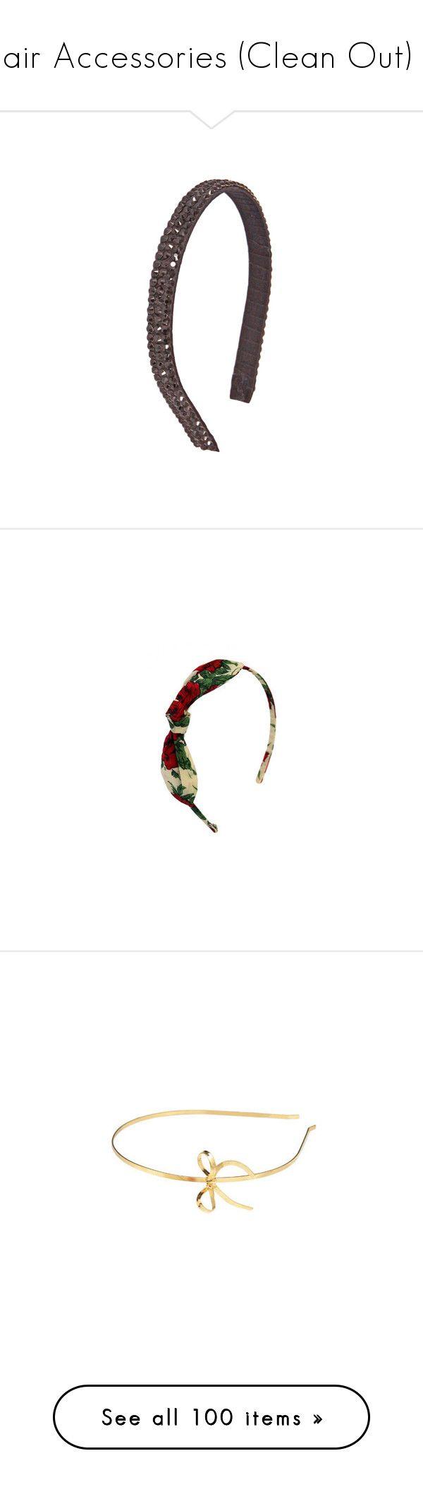 """Hair Accessories (Clean Out) 2"" by dev-lynn ❤ liked on Polyvore featuring accessories, hair accessories, hair, headbands, hairbands, tarina tarantino, ribbon wrapped headbands, crystal headband, wrap headbands and crystal hair accessories"
