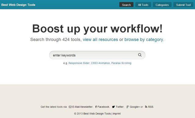 Best Web Design Tools, 424 utilidades para diseño y desarrollo web