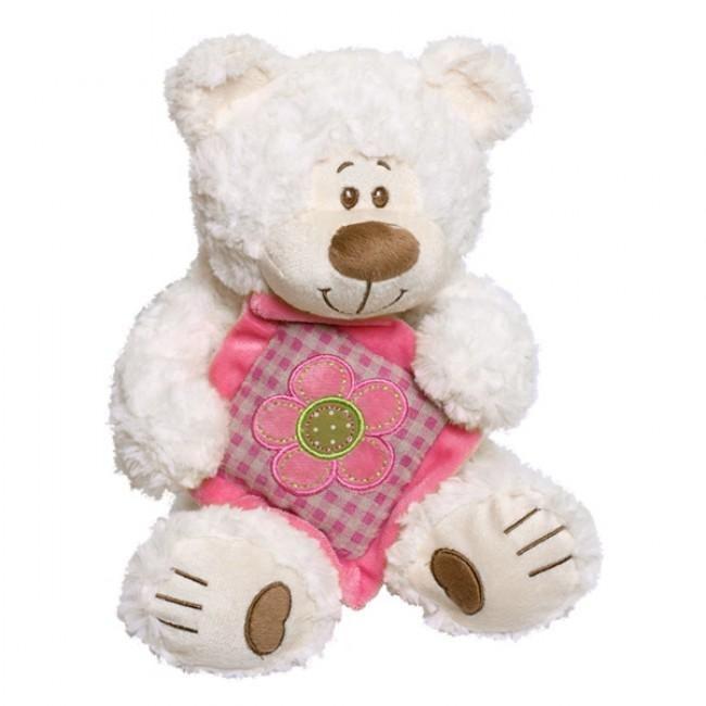 Leuke teddybeer met kussen. Astor de beer is gemaakt van een zeer zachte, harige pluche met een gemiddelde lengte. Bruine inzetstukken benadrukken zijn charme. Deze Astor de beer heeft een prachtig kussen met borduurwerk in de vorm van een bloem. Het kussen bestaat uit verschillende warme tinten van zacht roze. Een schitterend cadeau voor meerdere gelegenheden.