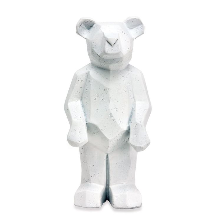 White Standing Geo Teddy