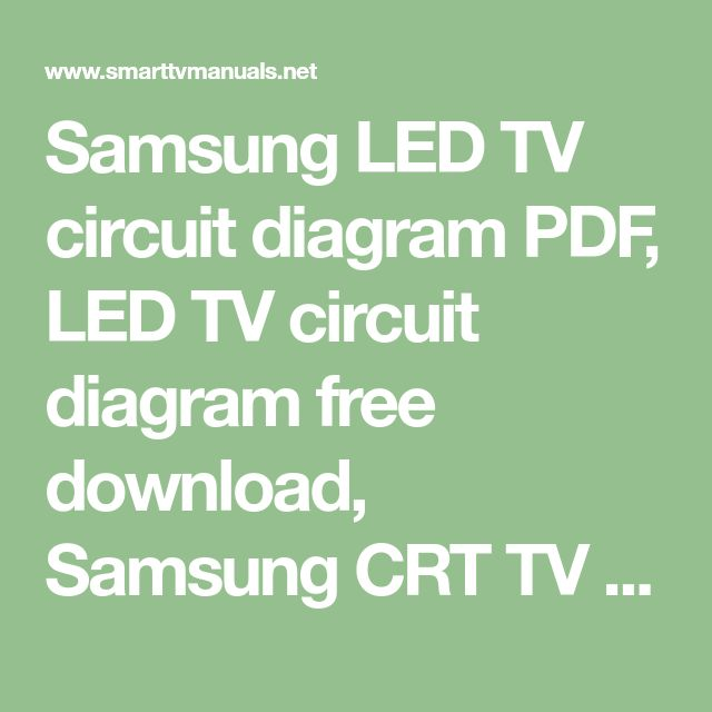 Samsung Led Tv Circuit Diagram Pdf  Led Tv Circuit Diagram