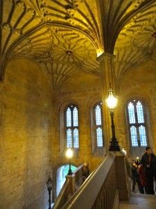 Oxford, England: University of Oxford, Christ Church College - staircase used in filming of Harry Potter
