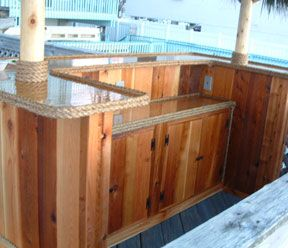 build your own outdoor bar - a good back
