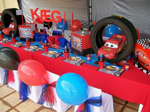 High Quality Cars Kids Party Table Decoration Ideas