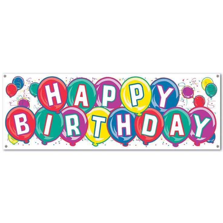 """Beistle 50135 Happy Birthday Banner 5' x 21"""""""