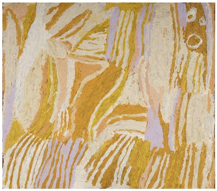 Untitled, by Makinti Napanangka, Winner Telstra Award, 25th National Aboriginal & Torres Strait Islander Art Awards, 2008
