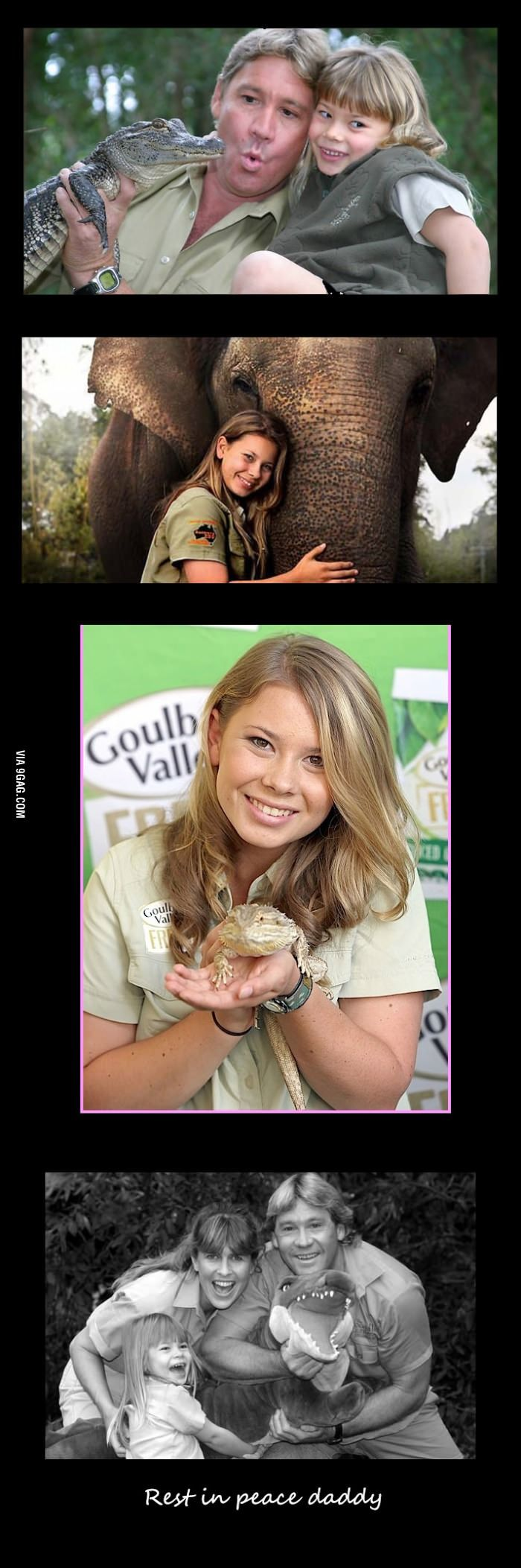 Steve Irwines daughter then and now