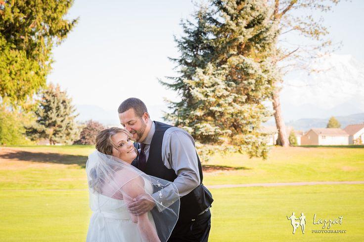 Lazzat Photography | High Cedar Golf Course Wedding | Bride & Groom | Mount Rainier