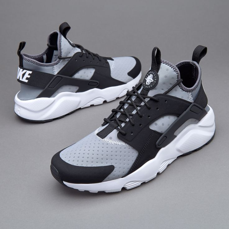 nike huarache mens grey orange