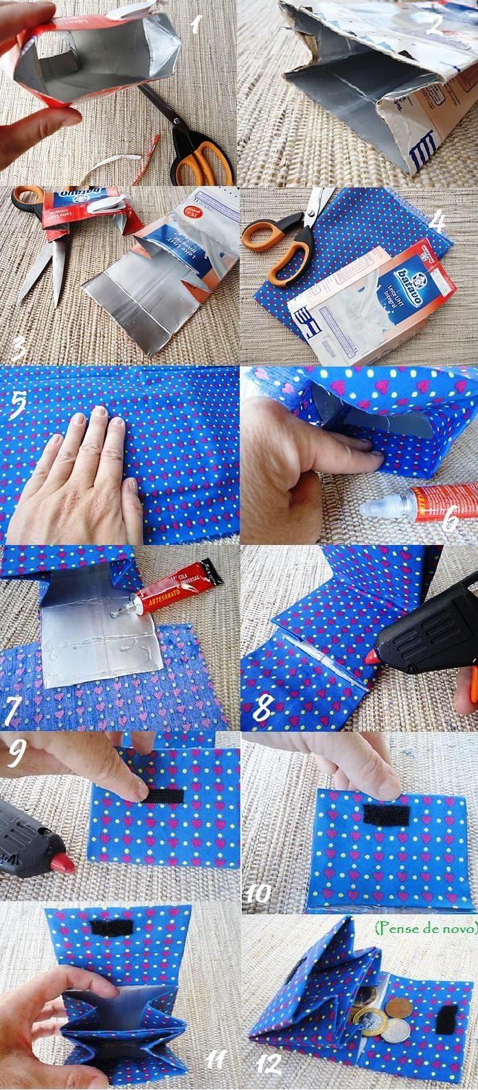 Amazing DIY Wallet Ideas DIY Milk Carton Wallet
