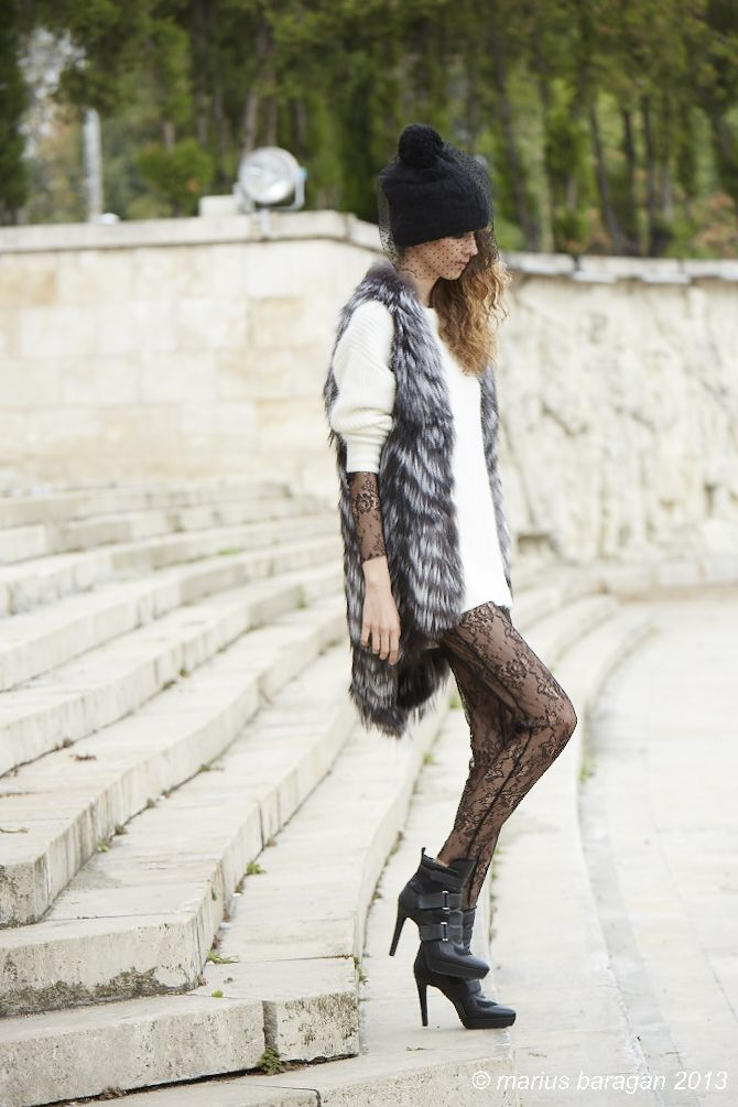 "fox vest from Paisi ""Furs and the City collection"" <3 <3 <3"