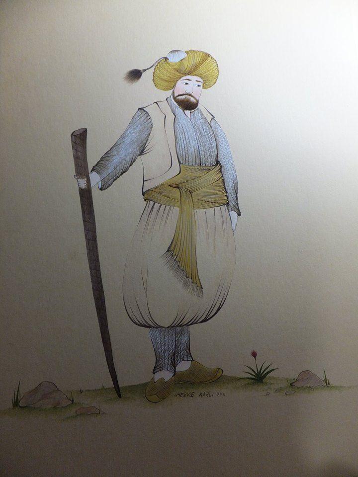 Ottoman miniature figure, miniature artist: Merve Karlı