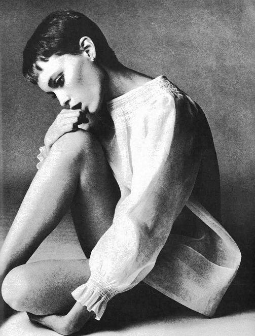 Mia Farrow by Richard Avedon, 1960s.