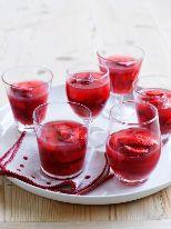 Strawberries in fresh strawberry jelly
