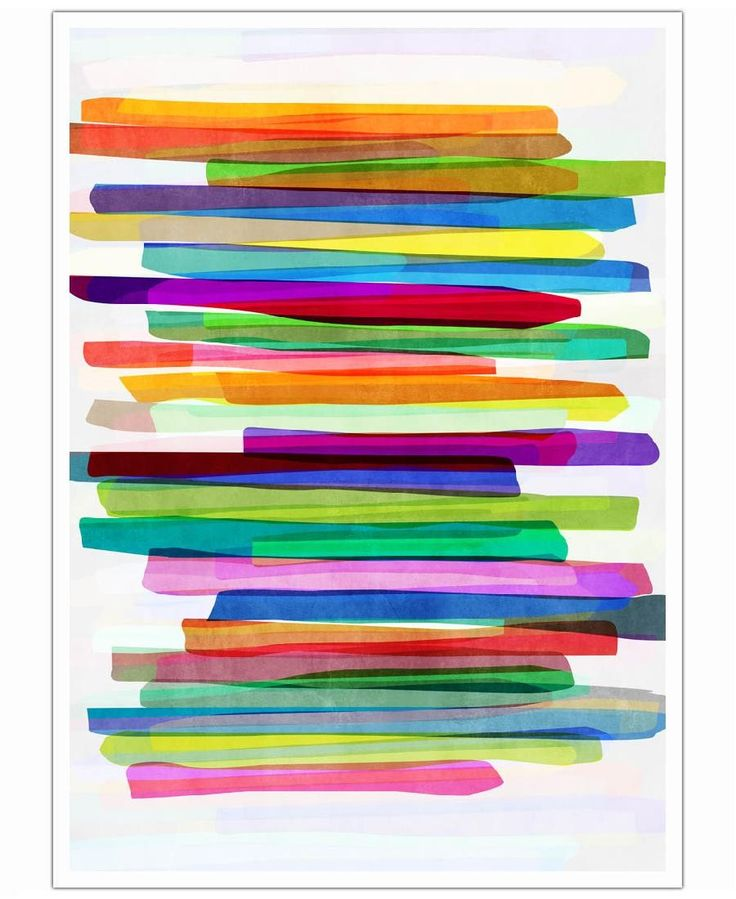 Colorful Stripes 1 Art Print by Mareike Böhmer now on Juniqe.com | Art. Everywhere.