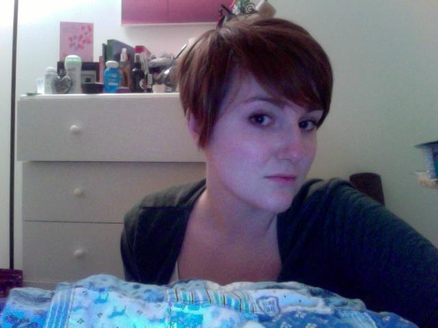 short: Hot Hair, Pixie Cut