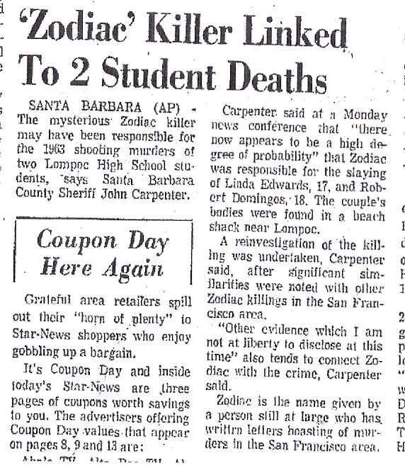 zodiac killer matrix Home » film » crimine » zodiac trama nell'estate del '69 un serial killer uccise sette persone, tre uomini e quattro donne,.