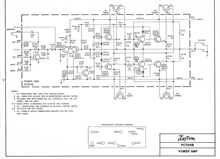 Kustom Amplifier Schematic Bob S Bored Pinterest Kustom