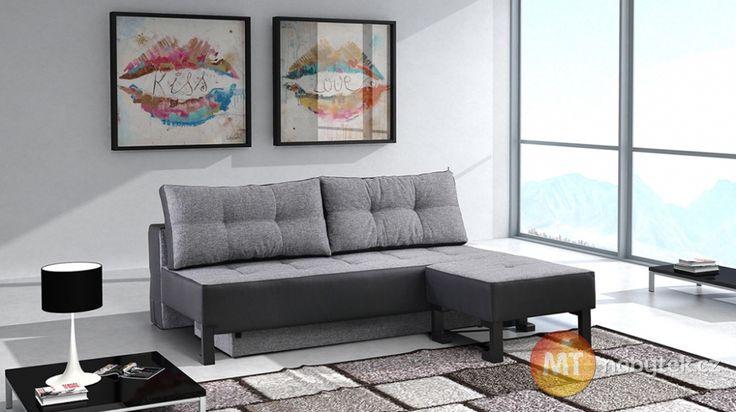 Stylová rozkládací pohovka s taburetem Singer #settee #sofa #divan #couch