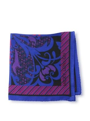 65% OFF Micky London Men's Floral Pocket Square, Blue/Multi