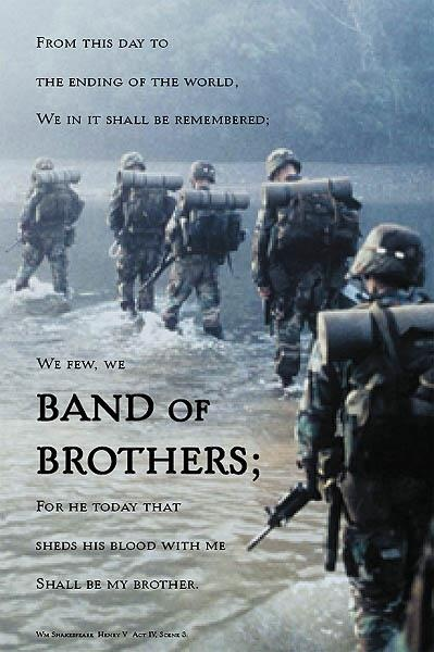 Band of Brothers (2001( Great movie!.. this Emmy-nominated miniseries profiles the men of Easy Company, the airborne infantry regiment that parachuted into France on D-Day, fought the Battle of the Bulge and captured Hitler's Eagle's Nest. Drawn from journals and letters -- the drama underscores the extraordinary fear and unflagging bravery that made these soldiers heroes. Damian Lewis, Donnie Wahlberg, Ron Livingston...1,3,27