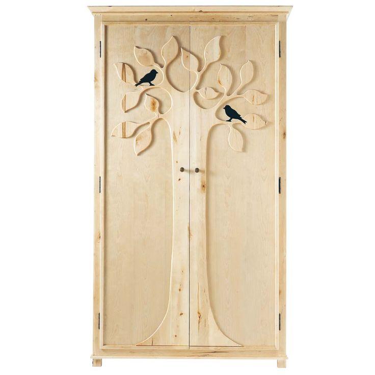tree carving natural wood clothes closet maison du monde 690 euros - Maison Du Monde Ballerina