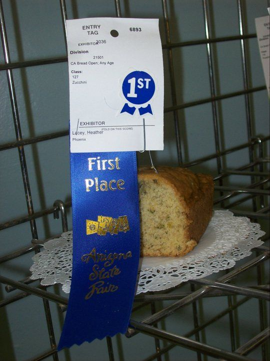 Blue Ribbon Zucchini Bread ~ Arizona State Fair Blue Ribbon Winning Recipe