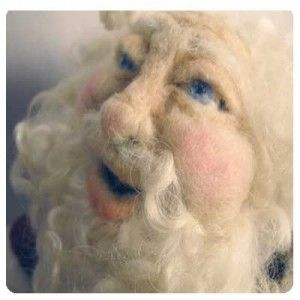 """Needle Felting A Santa Doll CD Workshop or Kit on the """"Living Felt"""" website...amazing supplies & projects!"""