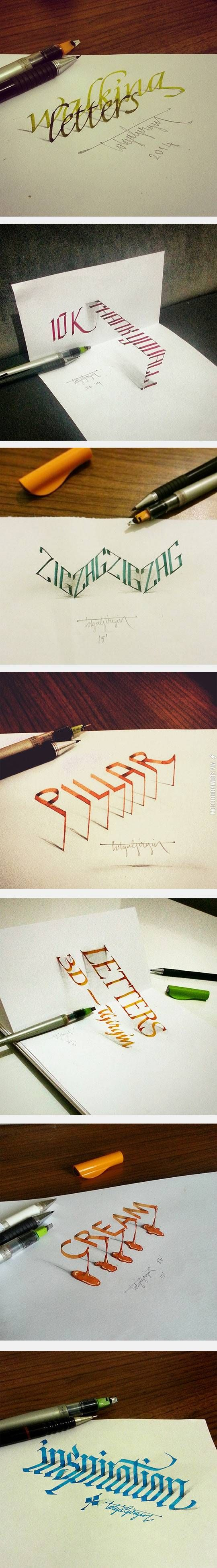 3D calligraphy.