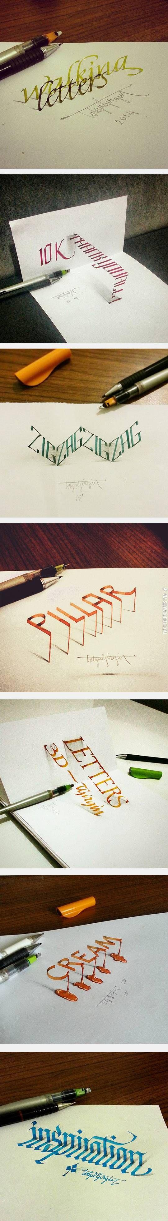 3D calligraphy.