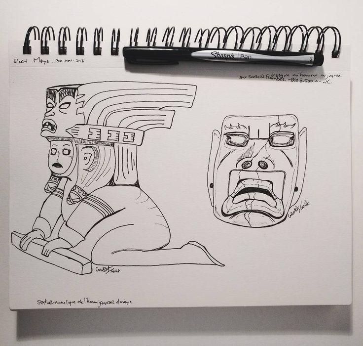 Caroline BT (@carobtartist) on Instagram: mayan jaguar mask