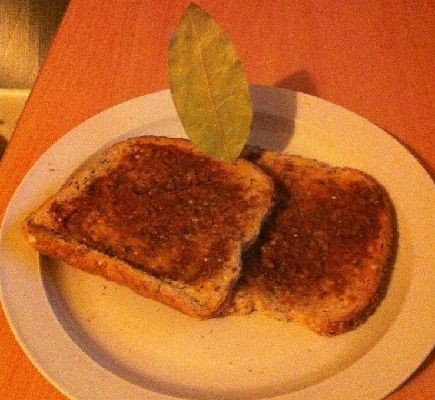 Recipe for Marmite on toast.  Be sure to read the comment section as well.  :)