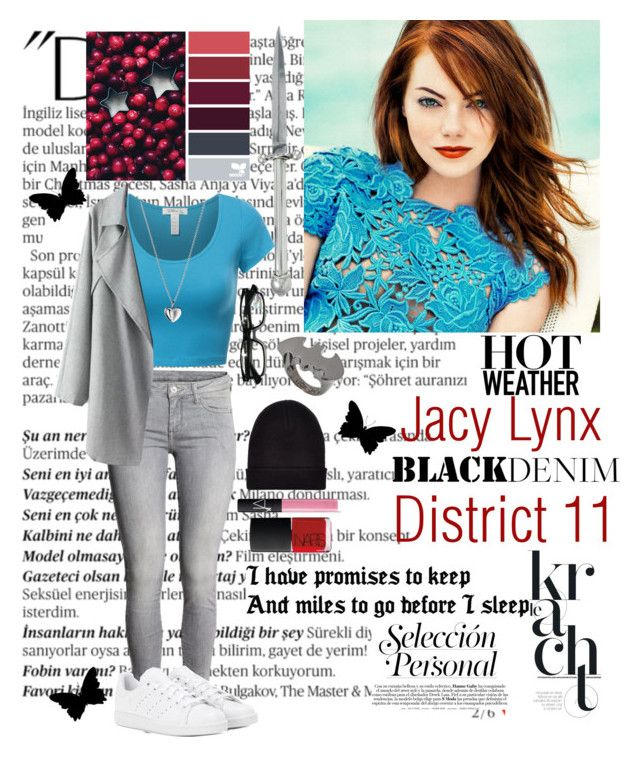 """""""Role play In The D!"""" by siamesecat-1 ❤ liked on Polyvore featuring Balmain, Kieselstein-Cord, H&M, adidas, Georg Jensen, New Look, Noir, NARS Cosmetics and bathroom"""